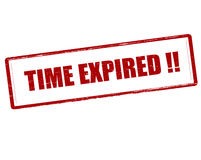 Time expired. Rubber stamp with text time expired inside, vector illustration Royalty Free Stock Image