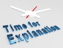 Time for Explanation concept Royalty Free Stock Photos