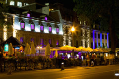 Time Exposure of Grand Allee. In Quebec, Canada Royalty Free Stock Images