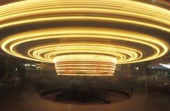 Time Exposure Merry Go Round, Niagara Falls, New York Stock Image