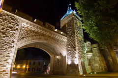 Time exposure of St. Louis Gate. In Quebec city, Canada Royalty Free Stock Photos