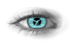 Time in the eye Stock Image