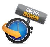 Time för återställningsbegreppsillustration Fotografering för Bildbyråer