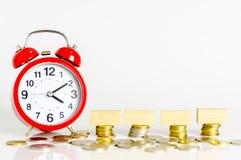 Time för besparingar Fotografering för Bildbyråer