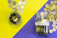Time för besparingar Arkivfoton