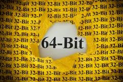Time för 64-bit Arkivfoto