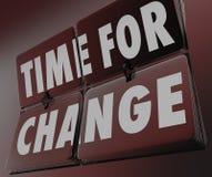 Time för den Retro klockan för ändring som bläddrar tegelplattor, inför nyheter anpassar royaltyfri illustrationer