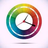Time för designbegrepp tar tid på vektor illustrationer