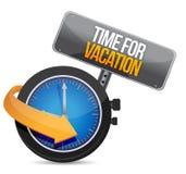 Time för ett semesterklockatecken vektor illustrationer