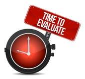 Time för Evaluate begreppet Arkivfoton