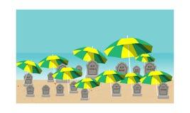 Time för ferie stock illustrationer