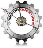 Time för frågor - metalliskt kugghjul Royaltyfria Bilder