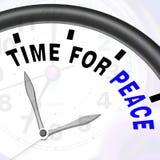 Time för fredmeddelande visar anti-krig och fridsamt stock illustrationer