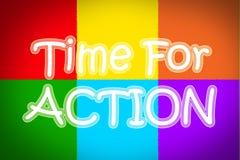 Time för handlingbegrepp Royaltyfri Bild