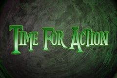 Time för handlingbegrepp Arkivfoto