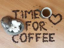 Time för kaffe Fotografering för Bildbyråer