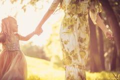 Time för mamma och mig ballerina little Arkivfoto