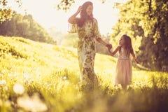 Time för mamma och mig ballerina little Royaltyfria Foton