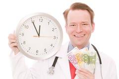 Time för medicinska besparingar arkivbild