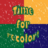 Time för recolor! Royaltyfria Bilder