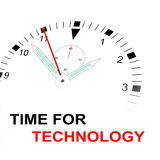 Time för teknologi Arkivbild