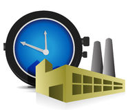 Time Factory illustration design Stock Image
