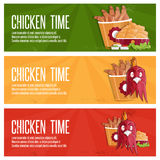 Time fast food vector banners Stock Image