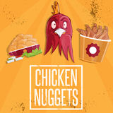 Time fast food vector illustration Royalty Free Stock Photography