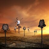 Time, Fast Moving, Balancing Act Royalty Free Stock Image