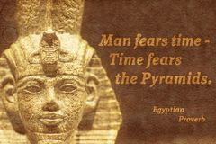 Time fears Ancient Egypt Stock Images