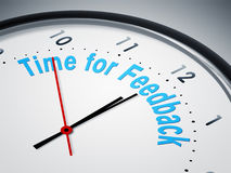 Time for feedback. An image of a nice clock with time for feedback Royalty Free Stock Photo