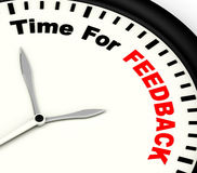 Time For feedback Shows Opinion Evaluation And Surveys. Time For feedback Showing Opinion Evaluation And Surveys Royalty Free Stock Photos