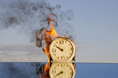Time is a fire Stock Photos