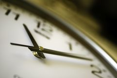 Time flies. A clock with a blured background Royalty Free Stock Photography