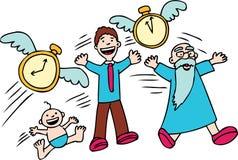 Time Flies!. Cartoon image of how time flies Stock Photos