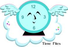 Time Flies Blue Clock Royalty Free Stock Photos