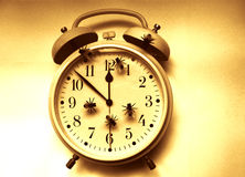 time flies, clock Stock Images