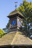 Time Flies Clock in Kensington Gardens. A view of the Time Flies clock above an old drinking fountain in the historic Kensington Gardens in London, UK royalty free stock images