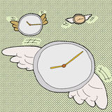 Time Flies Clocks Royalty Free Stock Photo