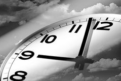 Time Flies Conceptual. With sky and clock Royalty Free Stock Images