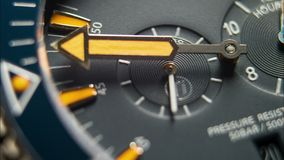 Time Flies. Diving Deep Sea Watch Close Up 4K Timelapse. stock video
