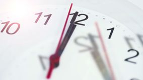 Time Flies. Time Concept Background 4K. Overlap of two clean white clock timelapse stock footage