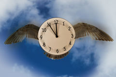 Time flies, time passes stock photography