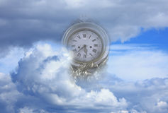 Time flies to end of world metaphor Royalty Free Stock Images