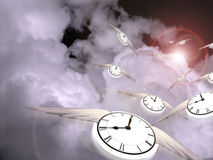 Time Flight royalty free illustration