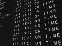 On Time Flights Royalty Free Stock Images