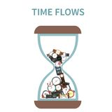 Time Flows Concept Royalty Free Stock Photography