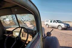 Time flows - vintage car in desert