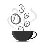 Time Fly By Off Coffee Cup Royalty Free Stock Photo