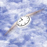 Time Flying Pattern Royalty Free Stock Image
